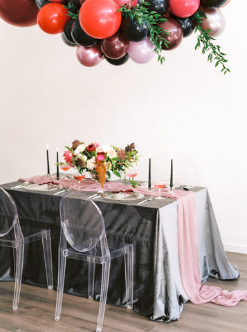 Dark Gray Linen TableCloth - Partycrushstudio
