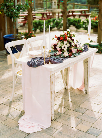 Blush Pink Rosette Table Runner | Table Runner
