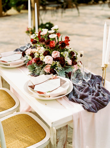 Blush Pink Table Runner