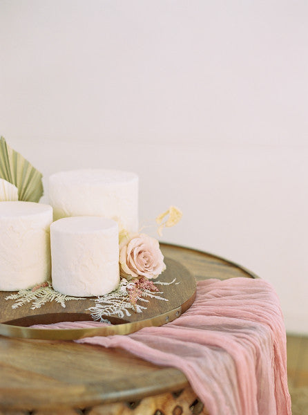 Old Rose Gauze Table Runner | Table Runner