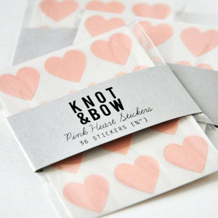 Pale Pink Gold Heart Stickers - Partycrushstudio