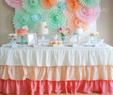 Peach Ombre tablecloth - Partycrushstudio