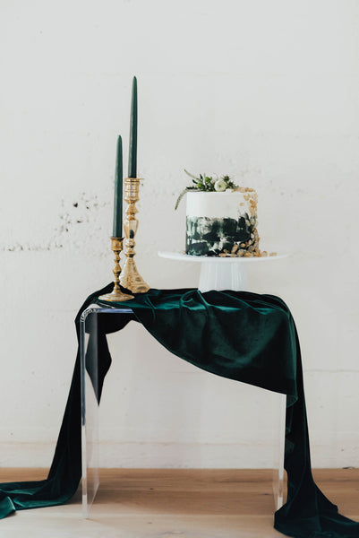 Emerald Velvet Table Runner - Partycrushstudio