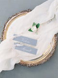White Silk Table Runner