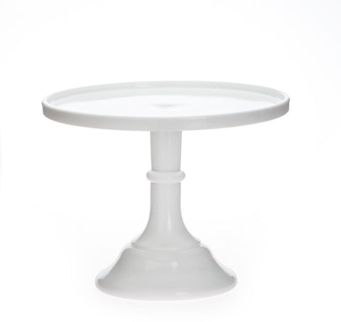 White Milk Glass Cake Stand, milk glass cake platter, white cake stand Party Crush Studio