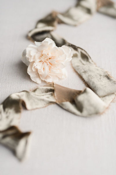 Harbor Gray Silk Velvet Ribbon - Partycrushstudio