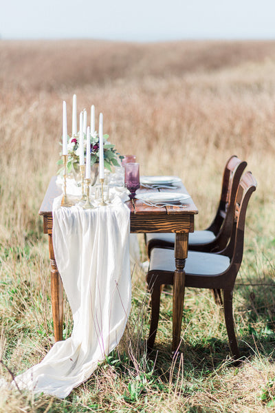 Ivory Gauze Table Runner - Partycrushstudio