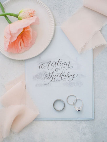 Blush Chiffon Ribbon - Partycrushstudio