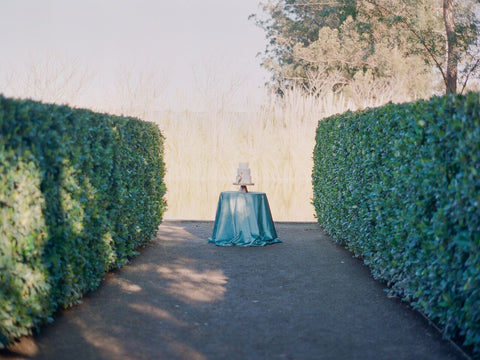 Seafoam Velvet Table Linen