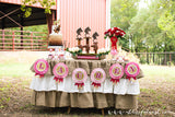 Ruffled  Burlap tablecloth - Partycrushstudio