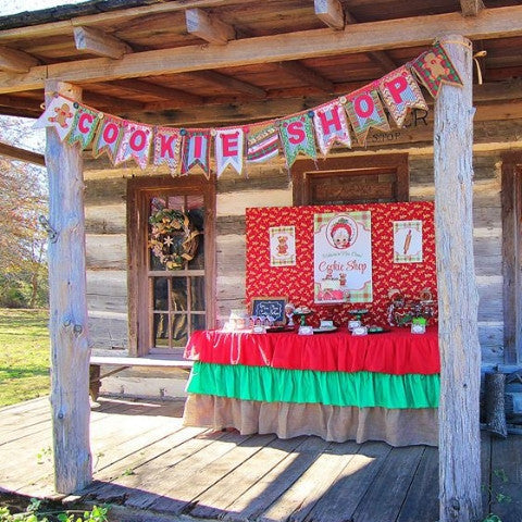 Best Ruffle Burlap Christmas Inspired Tablecloth