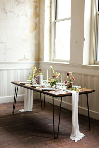 silk chiffon table runners