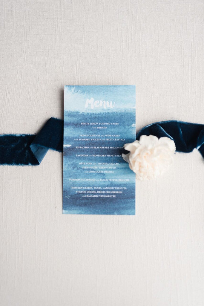 Navy Blue Silk Velvet Ribbon