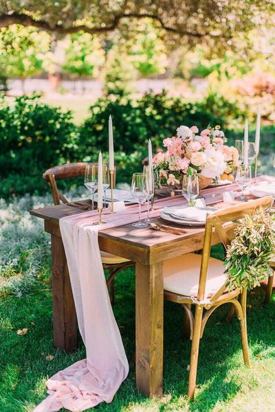 Velvet Table Runner | Pink Table Runner