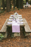 lilac wedding table runner