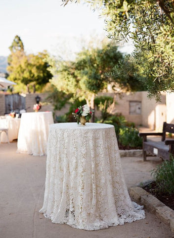 floral lace wedding cocktail tablecloth and summer wedding ideas