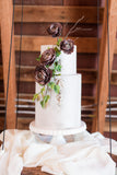 silk runners | crepe silk runners | silk ribbon wedding cake
