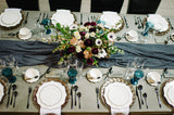 charcoal silk table runner - Partycrushstudio