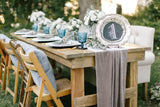 Gray velvet table Runner | Velvet table runner | Velvet runner | Velvet Tablecloth | - Partycrushstudio