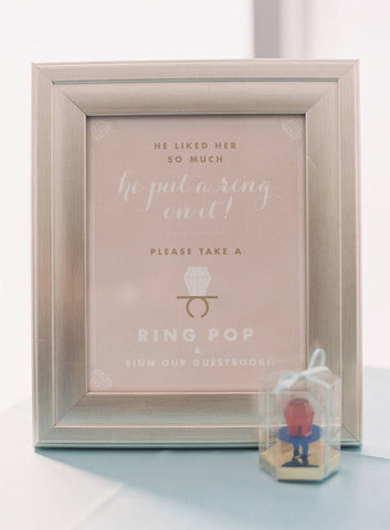 Ring Pop Boxes, Wedding Box Favors