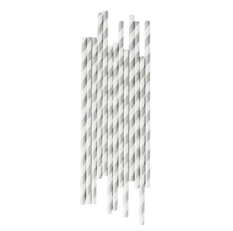 Best Silver Striped Paper Straws