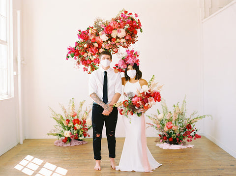 bride face mask for weddings