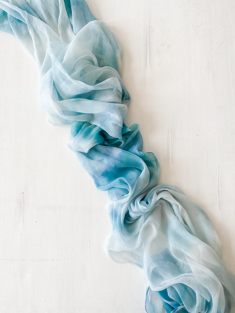 Tie Dye Silk Table Runner