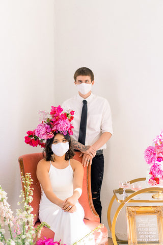 bride and groom facemask for covid weddings