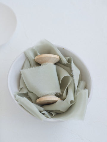 Sage Silk Ribbon | Silk Ribbon