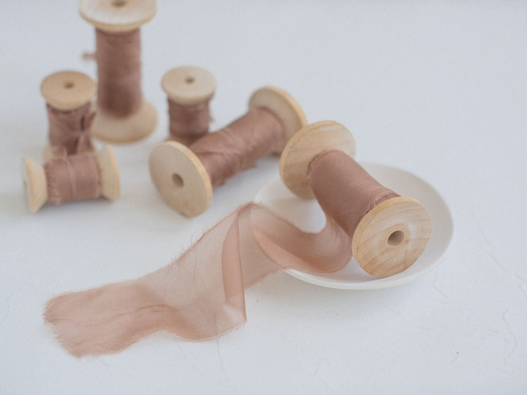 hazelnut silk ribbon
