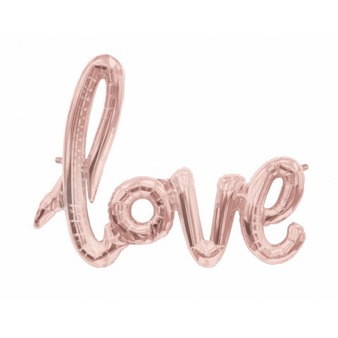 Best Rose Gold Love Calligraphy Balloon