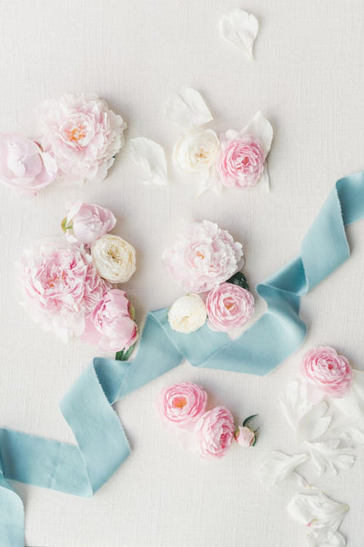 Powder Blue Silk Ribbon