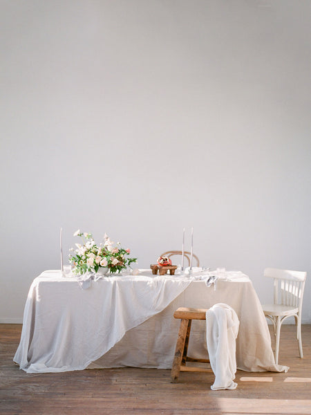 White Tablecloth | White Silk Table Runner