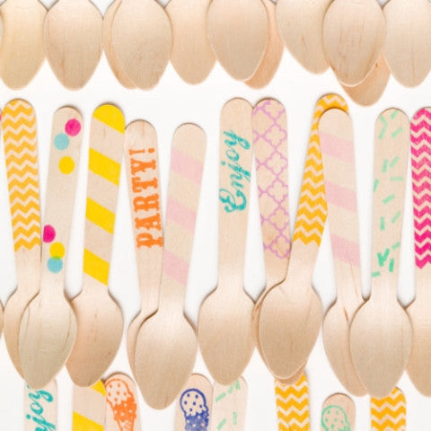 Variety Party Spoons | Wooden Cutlery | Wooden Utensils - Partycrushstudio