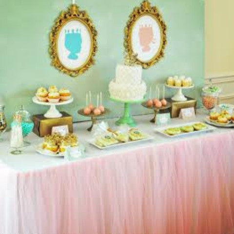 Best Pink TuTu Tulle Tablecloth