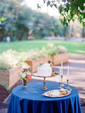 Royal blue Linen TableCloth