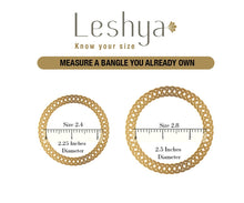Traditional Jhumki Bangle set by Leshya for two hands Pink