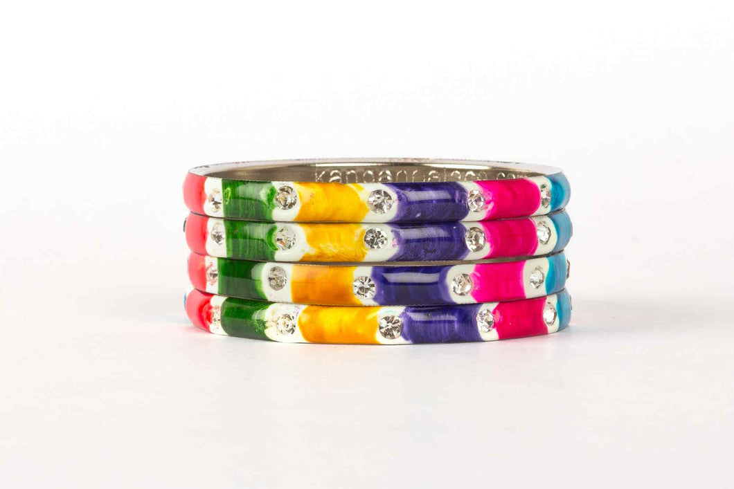 MULTI COLOR MEENAKARI BRACELET WITH SEVEN COLORS