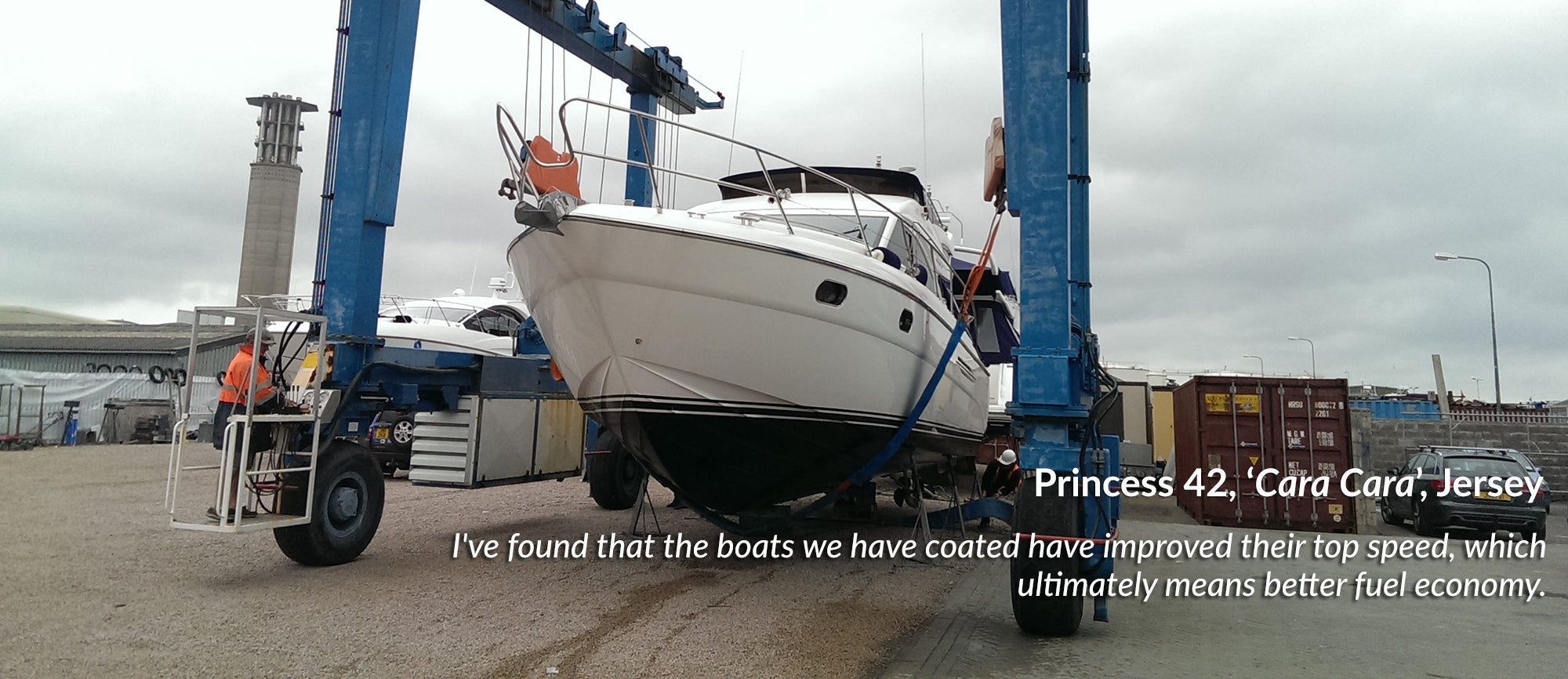 Case Studies Princess Motorboat Antifoul Foul Release