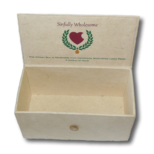 Handmade Lokta Paper Gift Box - Sinfully Wholesome