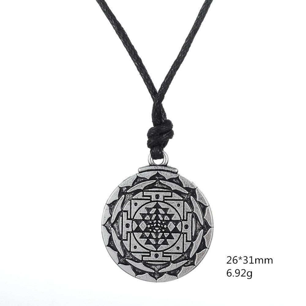 Sri yantra pendant necklace for growth healing and wealth bella sri yantra pendant necklace for growth healing and wealth aloadofball Choice Image