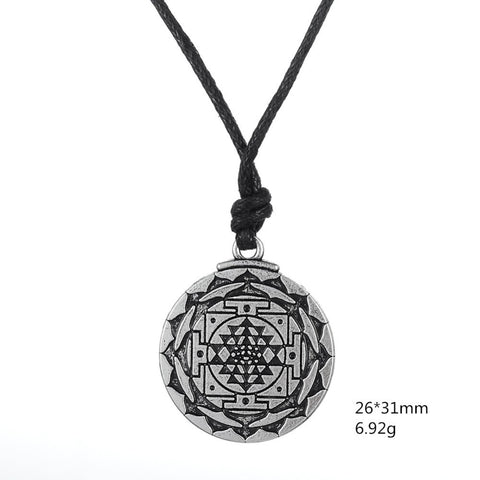Sri Yantra Pendant Necklace for Growth, Healing, and Wealth