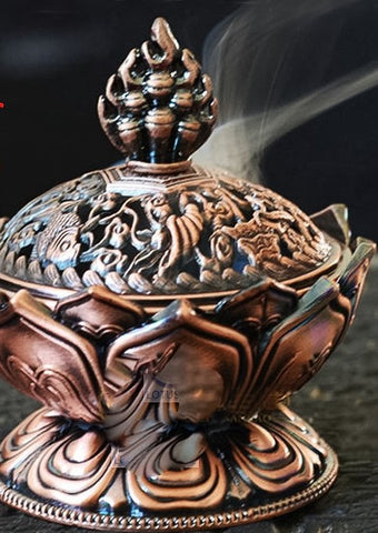 Bronze Tibetan Incense Burner