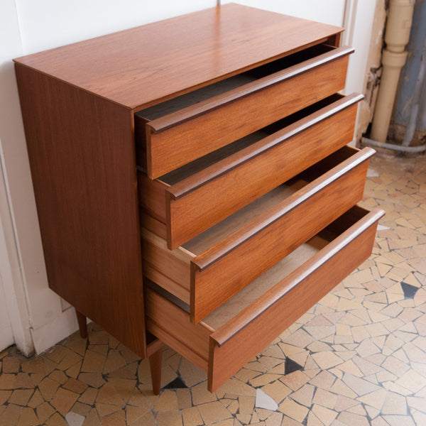 Commode scandinave pieds fuseaux