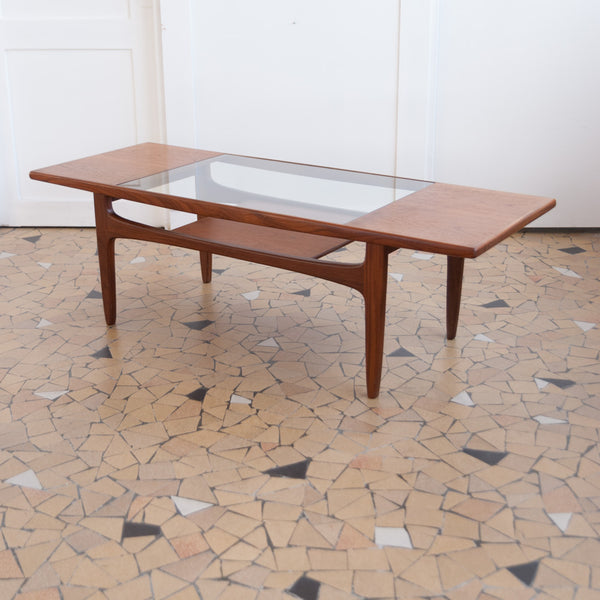 Table basse Gplan teck & verre