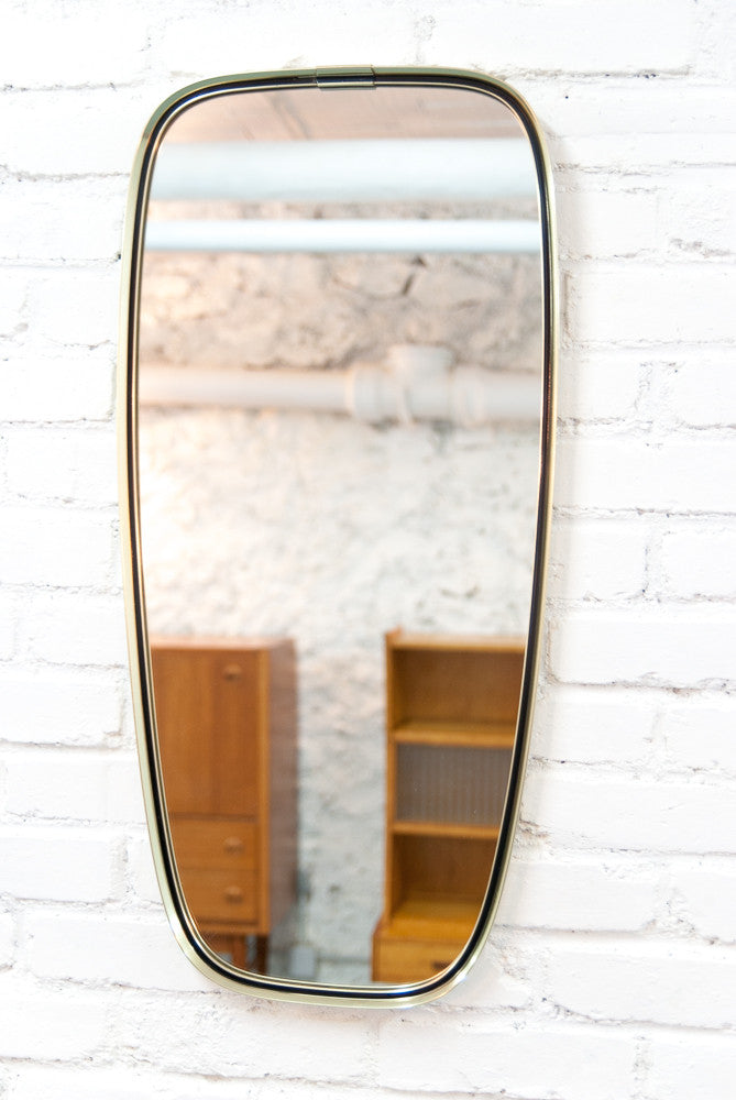Grand miroir arrondi en laiton vintage monsieur joseph for Grand miroir 2 metres