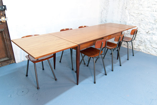 Grande table de repas scandinave à rallonges - Vintage - Monsieur Joseph - 4