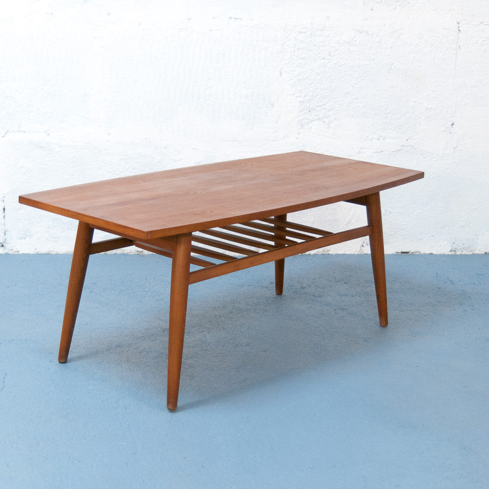Table basse scandinave en teck vintage monsieur joseph for Table basse scandinave fly