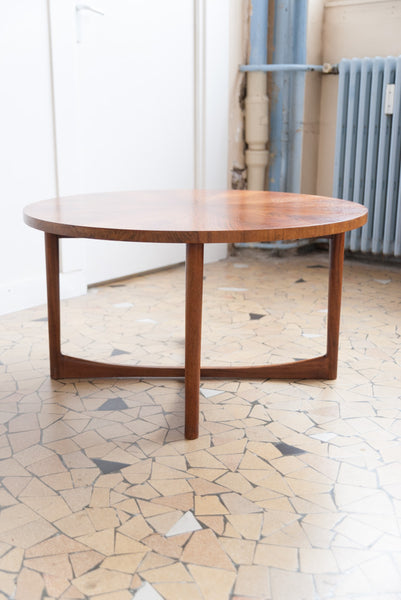 Table basse ronde en palissandre