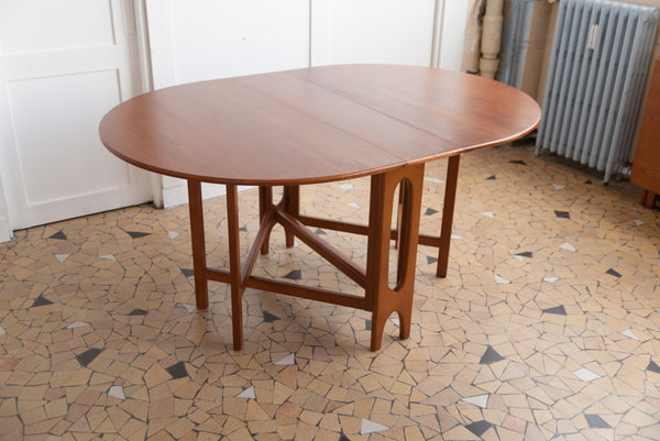Table scandinave ronde à rabats